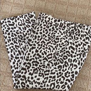J. Crew Crop Easy Pant Leopard 🐆